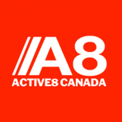 Active 8 Canada Logo | Ruthless Sports Canada