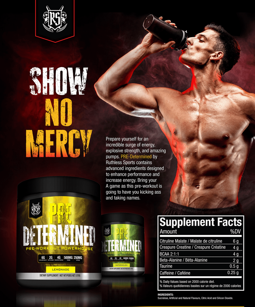 Ruthless Sports Pre Determined Mojito Description | Pre-workout Canada