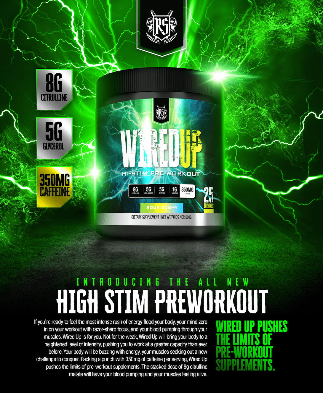 Ruthless Sports Wired Up | High Stim Pre-workout