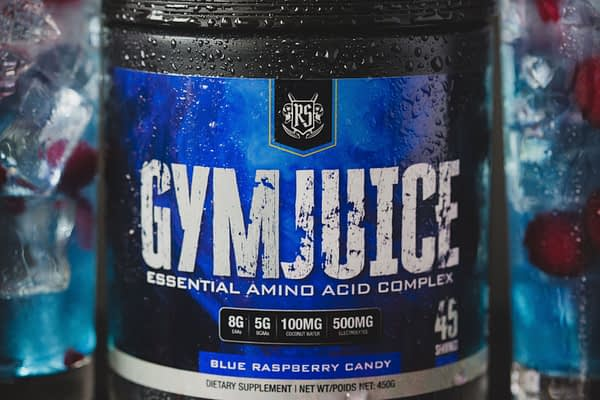 Ruthless Sports Gym Juice Blue Raspberry Candy EAA   Best EAA Canada